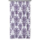 GAMMA Barok douchegordijn textiel polyester paars/wit 180 x 200 cm