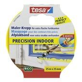 Tesa Precision Indoor afplaktape 25 m x 25 mm geel