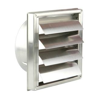 grille encastr e pour hotte renson inox 125 mm grilles de ventilation evacuation d 39 air. Black Bedroom Furniture Sets. Home Design Ideas