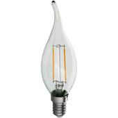 Handson LED kaarslamp met tip en filament E14 2,3W = 25W 250 lumen