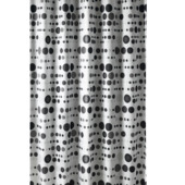 GAMMA Bol douchegordijn textiel polyester zwart/groen 180x200 cm