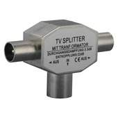 Q-link coax splitter voor tv metaal