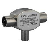 Q-link coax splitter voor radio metaal
