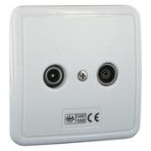 Q-link coax stopcontact TV/FM inbouw wit
