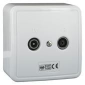 Q-link coax stopcontact TV/FM opbouw wit