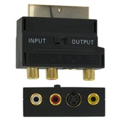 Q-link adapter SCART naar S-VHS/AV zwart