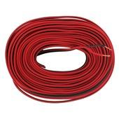 Q-link luidsprekersnoer 2x 0,75 mm² 25 m rood/zwart
