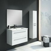 Handson Hera badkamermeubelset 80 cm wit met kolomkast