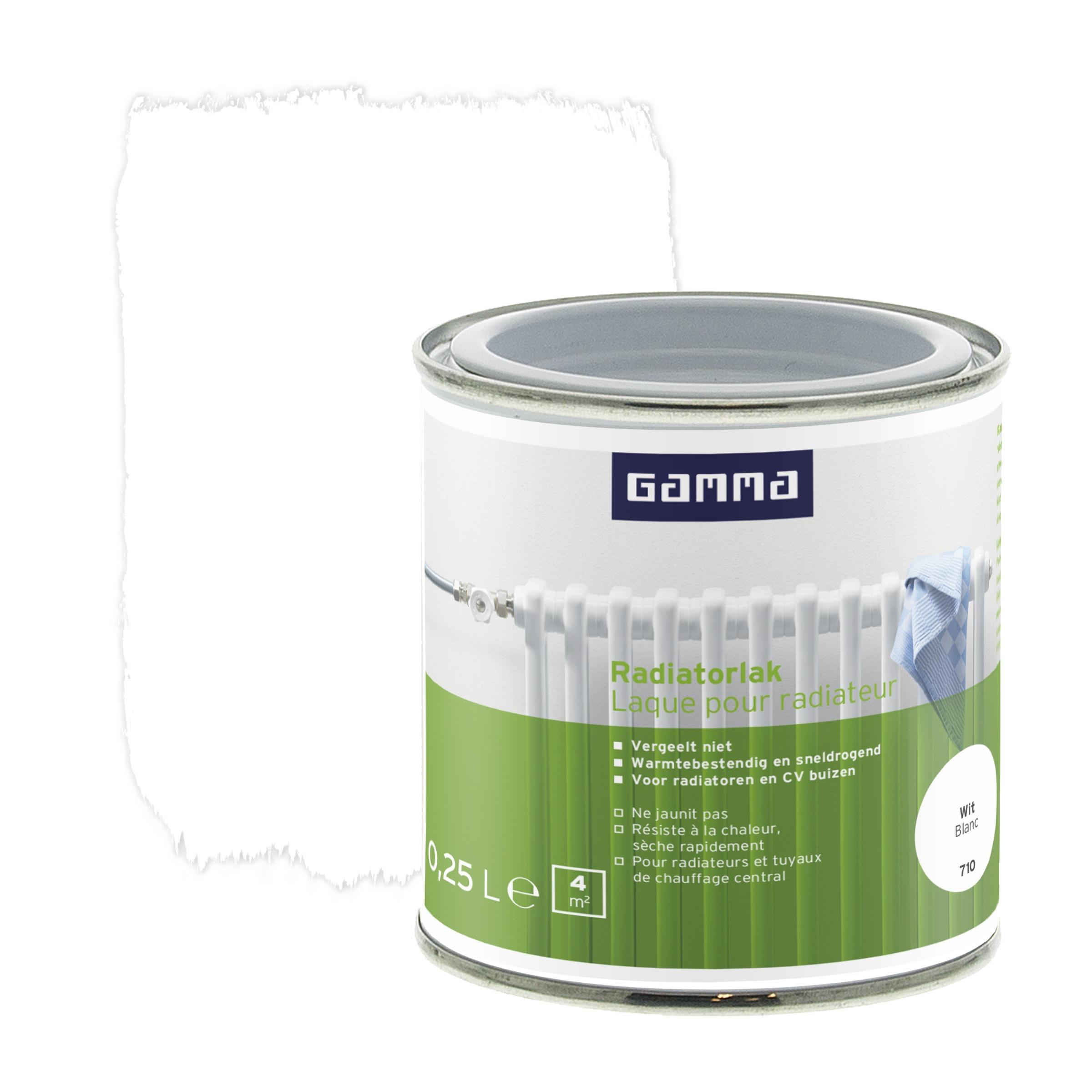 laque pour radiateur gamma brillant blanc 250 ml peintures sp ciales papier peint peinture. Black Bedroom Furniture Sets. Home Design Ideas
