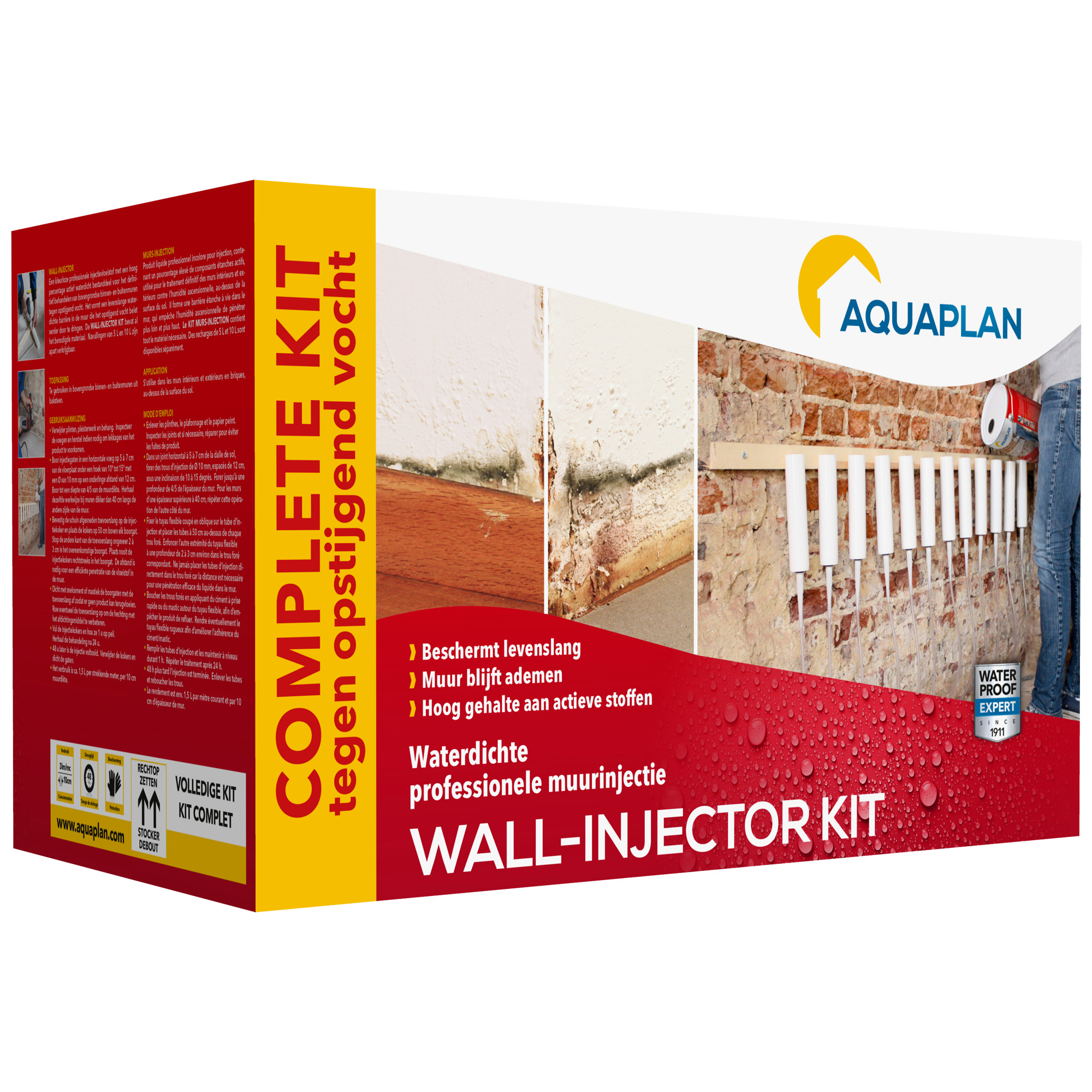 injection murale aquaplan kit complet murs int rieurs etanch it anti humidit mat riaux. Black Bedroom Furniture Sets. Home Design Ideas