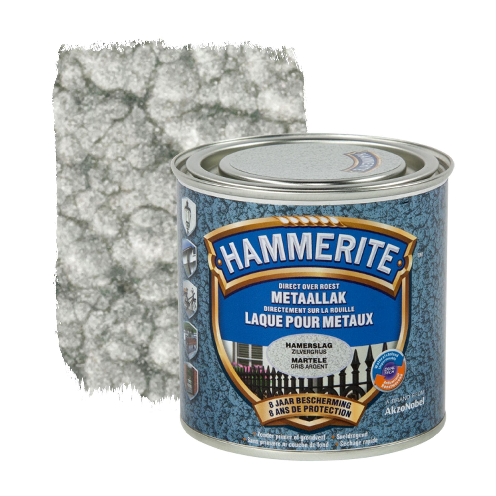 Hammerite metaallak hamerslag zilvergrijs 250 ml ...