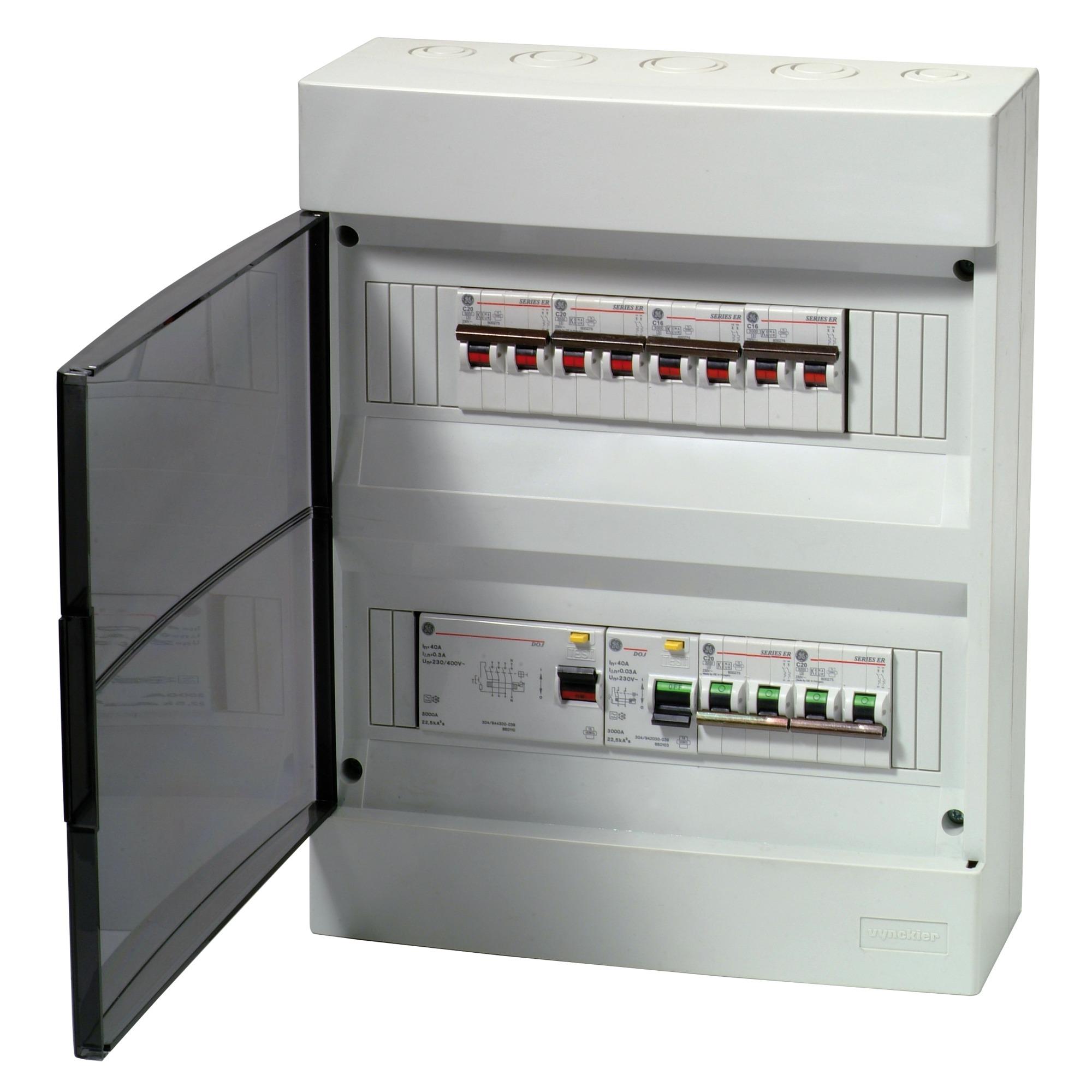 coffret pr c bl 24 modules vynckier fix o box armoires lectriques accessoires. Black Bedroom Furniture Sets. Home Design Ideas
