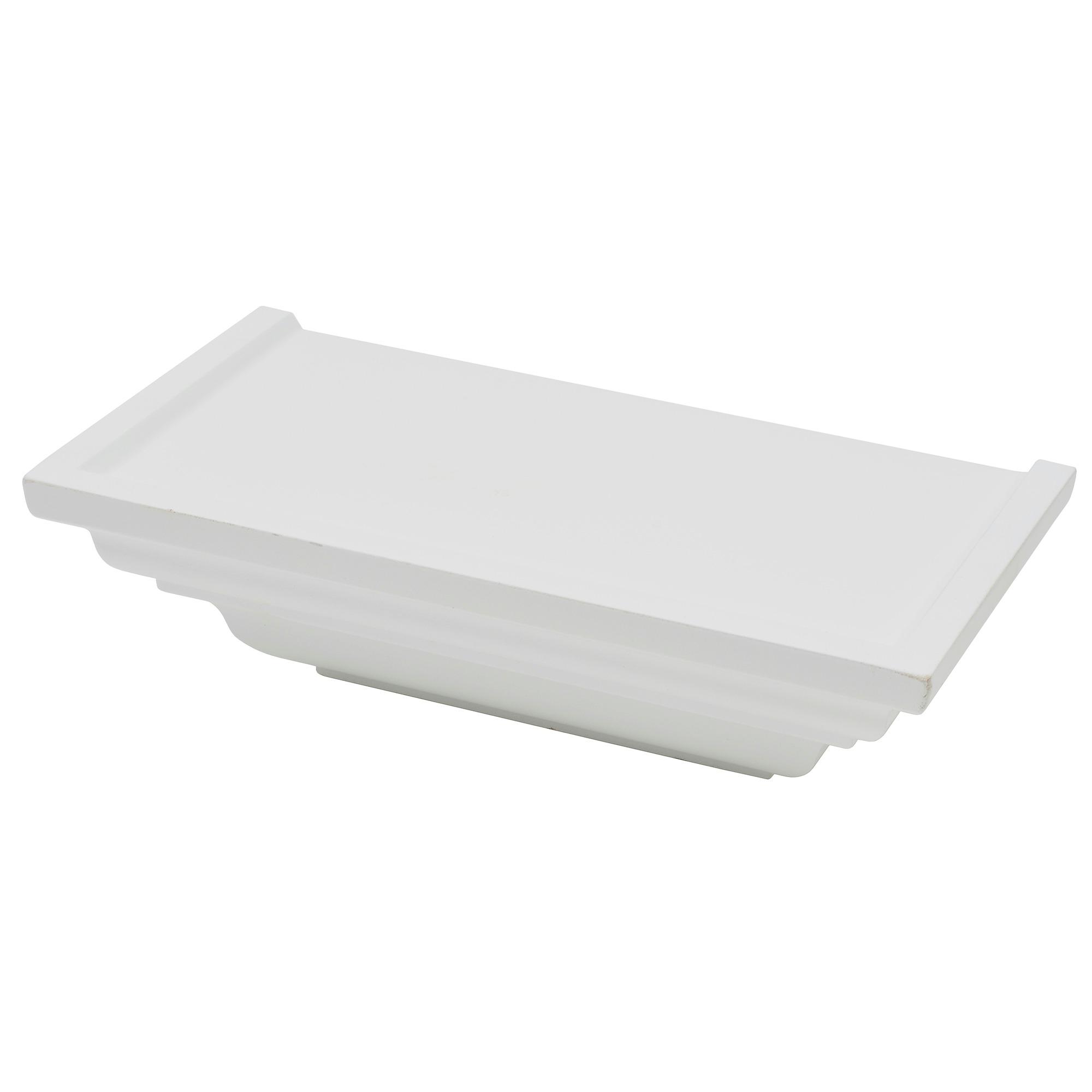 Tablette classique Duraline Ornament 25 cm blanc