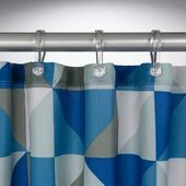 Sealskin Tangram douchegordijn textiel polyester blauw 180 x 200 cm