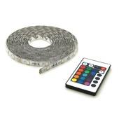 Prolight RGB LEDstrip 5 meter met afstandsbediening IP44 4x30 cm